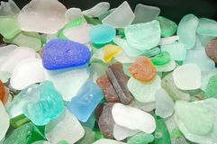 Beach glass royalty free stock image