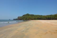 Beach in goa. Deserted beach north of Palolem in Goa, India Stock Image