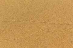Beach golden sand texture. Nature. Stock Photo