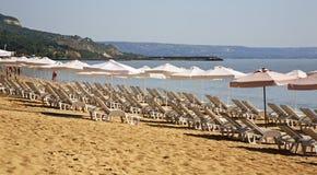Beach in Golden Sands. Bulgaria.  Stock Images