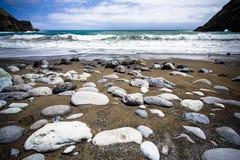 On the beach, Gomera island, Spain Stock Photo