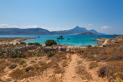 The beach in Gramvousa island royalty free stock image