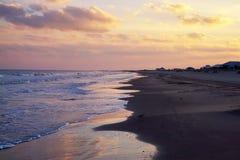 The Beach at Grand Isle, Louisiana. A beautiful sunrise at the beach at Grand Isle, Louisiana stock photo