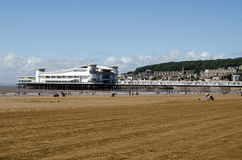 Beach and Grand Pier, Weston-Super-Mare Stock Photos