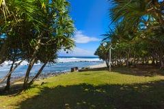 Beach at Grande Anse place, Reunion Island. During a sunny day Stock Photos