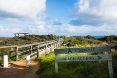 Beach grass Access Path Royalty Free Stock Image