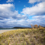 Beach Grass And Clouds Royalty Free Stock Images