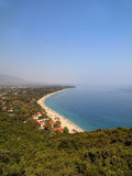 Beach in Greece Royalty Free Stock Photography