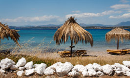Beach in Greece Stock Photography