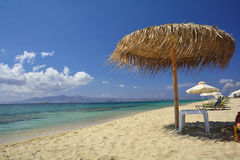 Beach on greece island - Naxos Stock Images