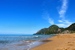 Beach on the greek islands Royalty Free Stock Images