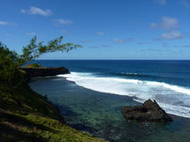 Beach At Gris Gris Cliff In Souillac Stock Photos