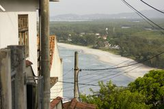 Of the beach of Guaratiba bar in rio de janeiro. Brazil royalty free stock photography