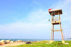 Beach guard tower Royalty Free Stock Images