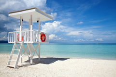 Beach guard tower in Boracay Stock Images