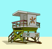 Beach guard tower Royalty Free Stock Photos