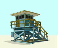 Beach guard tower Stock Photos