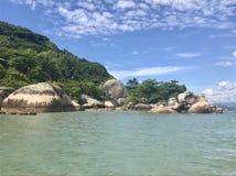 Beach guarda do embau, Brasil. Beach in guarda do embau Brasil royalty free stock photography