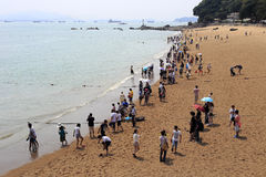 Beach of gulangyu island Stock Photo