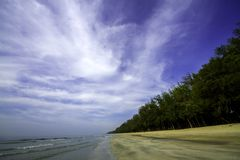 Beach in the Gulf of Thailand Stock Image