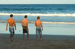 Beach Guys Royalty Free Stock Photo