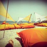 Beach h2o name mamaia constanta romania Stock Image