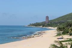 Beach on Hainan island. Scenic view of beach on Hainan island, China Stock Photos