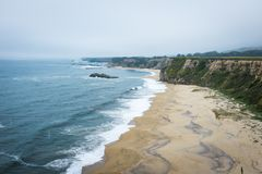 Beach in Half Moon Bay stock images