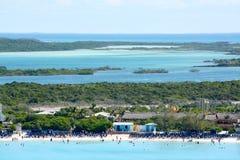 The Beach at Half Moon Cay in the Bahamas Royalty Free Stock Photo
