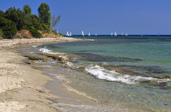 Beach from Halkidiki Stock Photography