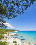 Beach on Halkidiki, Sithonia, Greece royalty free stock photos