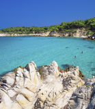 Beach on Halkidiki, Sithonia, Greece royalty free stock photography