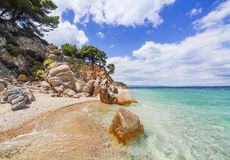 Beach on Halkidiki, Sithonia, Greece stock photography