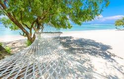 A beach hammock in the gili islands,bali Stock Photo