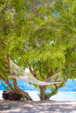 A beach hammock in the gili islands,bali Royalty Free Stock Images