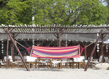 Beach hammock with sea view Royalty Free Stock Photography