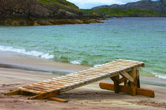 Beach Handa Island - Scotland. Pier on Handa Island - Scotland Stock Photography