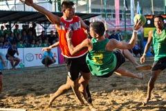 Free Beach Handball, Player Making A Service At The 2018 Thailand National Games, Jiang Hai Games. Stock Images - 133536774