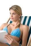 Beach - Happy young woman in bikini Royalty Free Stock Photo