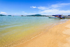Beach harbor area at Ao Chalong Bay in Phuket, Thailand Stock Images