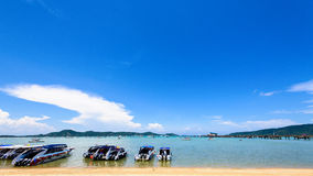 Beach harbor area at Ao Chalong Bay in Phuket, Thailand Royalty Free Stock Images