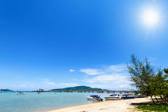 Beach harbor area at Ao Chalong Bay in Phuket, Thailand Stock Photo