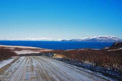 Sand Point Alaska stock image