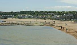 Beach and Harbor View at North Berwick, Scotland Royalty Free Stock Image