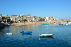 Beach and harbour at Saint Ives, Cornwall, England Stock Images