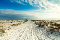Beach Harmony. Beautiful white powder sand beach in the Florida panhandle in the late afternoon Stock Photography