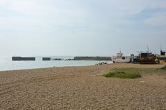 Beach at Hastings, Sussex, England Royalty Free Stock Images