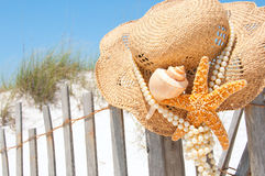 Beach hat Royalty Free Stock Photos