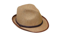 Beach hat. Isolated on white background Stock Photography