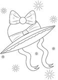 Beach hat coloring page Royalty Free Stock Photos